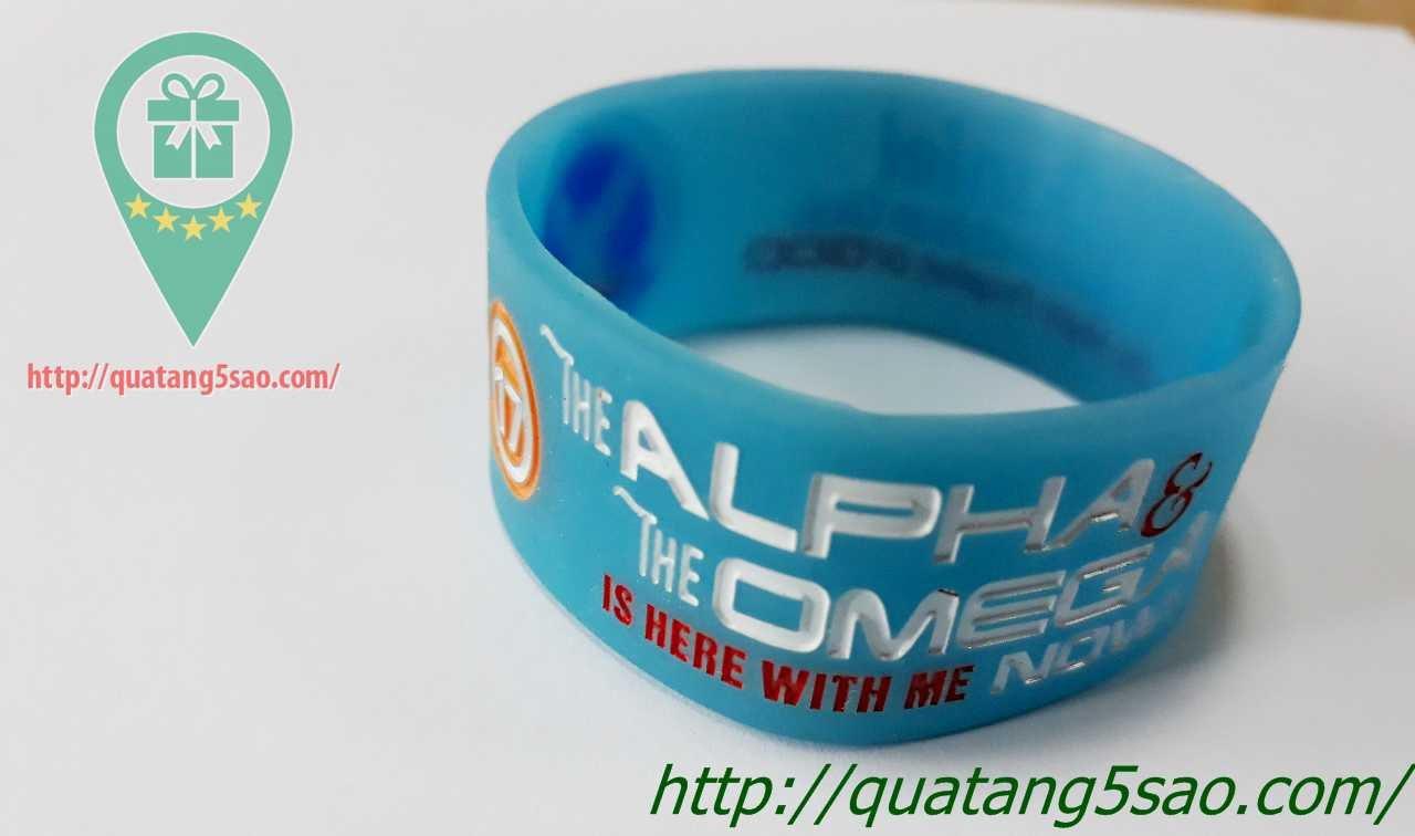 Vòng tay cao su The Alpha & The Omega