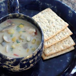 Crock Pot Chicken and Corn Chowder.