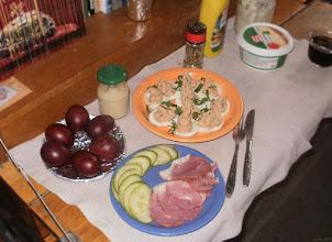 Photo: Wielkanocna szynka, malowane w cebulniku jajka i faszerowane jajka (obowiązkowo chrzan - w słoiczku) - 37