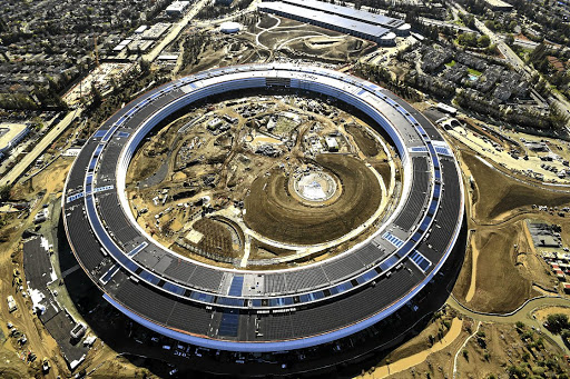 The Apple Campus 2, under construction in Cupertino, California, pictured on January 13 2017. Picture: REUTERS