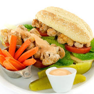 Spicy (or not) Cauliflower Po'Boy by Kathy Hestor.