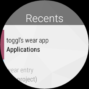 Toggl Time Tracker, Timesheet Screenshot