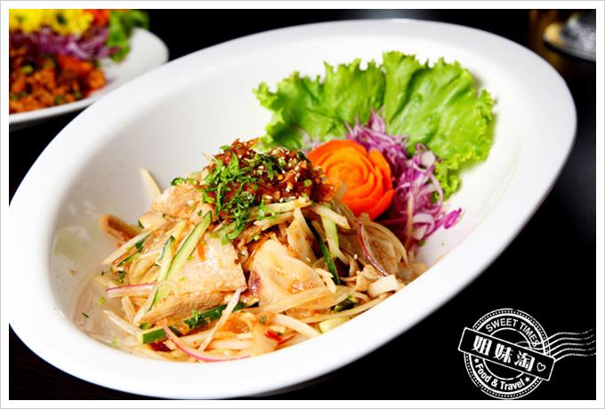 阿杜皇家泰式料理菜單涼拌大薄片