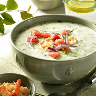 Cold Cucumber and Shrimp Soup