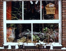 Photo: Winterliches Erkerfenster