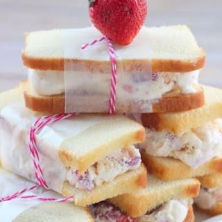 Strawberry Shortcake Ice Cream Sandwiches