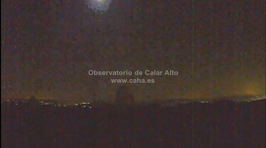 El Observatorio de Calar Alto registra una nueva bola de fuego
