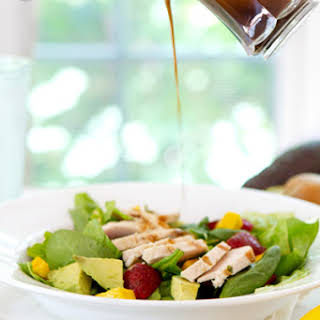 Strawberry, Mango and Avocado Salad with Honey Balsamic Vinaigrette.