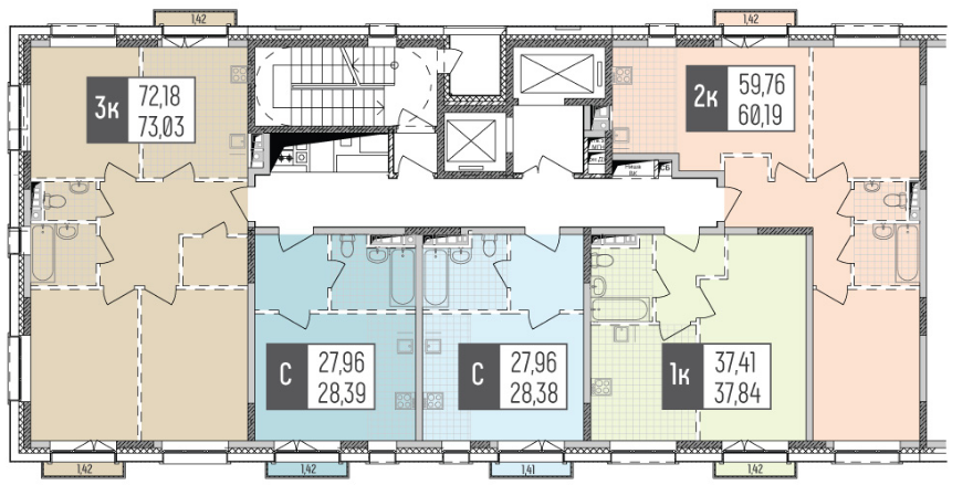 планировка 5 квартир.png