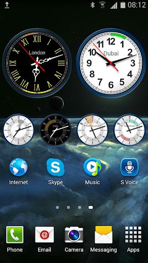 Analog Clock Widget with Alarm screenshots 1