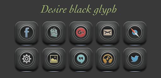 Desire black glyph an unique and beautiful icon set