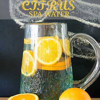 Cucumber Citrus Infused Water.
