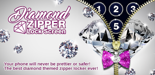 Diamond Zipper Lock Screen app (apk) free download for Android/PC/Windows screenshot