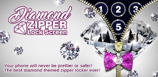 Diamond Zipper Lock Screen Apps (apk) free download for Android/PC/Windows screenshot