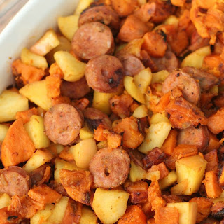 One-Pan Paleo Chicken Apple Sausage & Sweet Potato Skillet Recipe