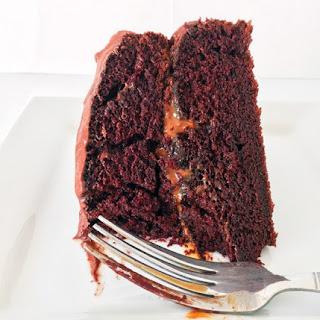 Chocolate Dulce De Leche Cake.