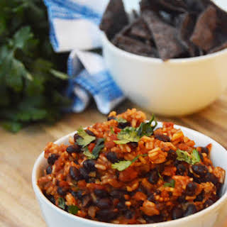 Slow Cooker Mexican Rice & Beans.