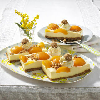 No Bake Apricot Cheesecake