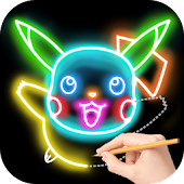 Draw Glow Cartoon - How to draw