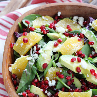 Pomegranate, Orange, and Avocado Salad