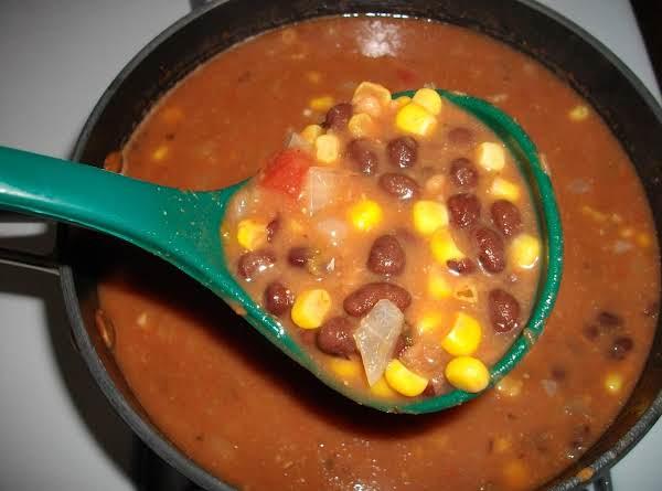 Black Bean, Corn, And Salsa Soup