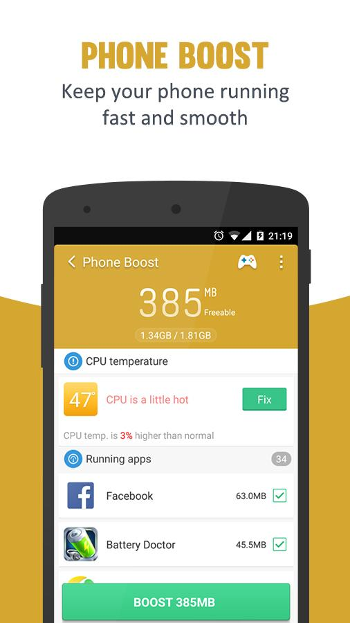 Clean Master Speed Booster Android Appar P 229 Google Play