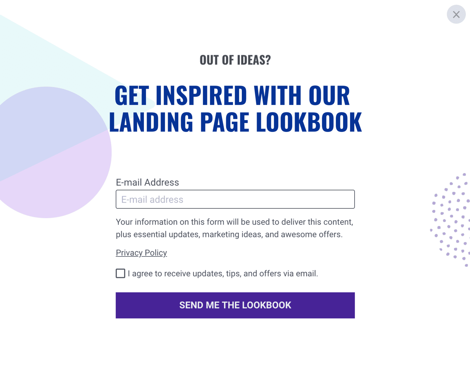 Leadbox example Leadpages Popup