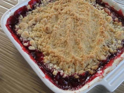 """Cherry Crisp """"The addition of almond extract to the cherries adds that..."""