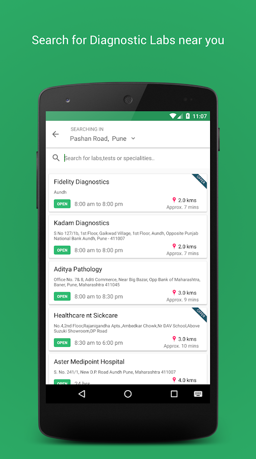 Livehealth- screenshot