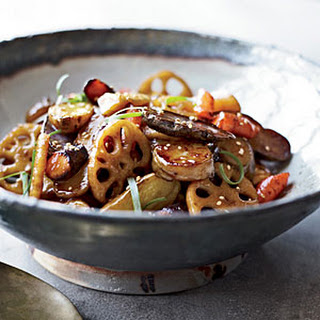 Maple Root-Vegetable Stir-Fry with Sesame.