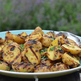 Grilled Baby Potatoes with Dijon Mustard & Thyme