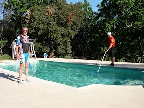 Photo: La piscine, c'est dur la vie ici...