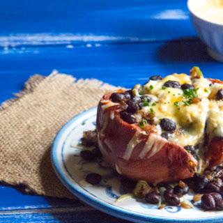 Cheesy Mexican Stuffed Sweet Potatoes.
