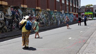 Photo: Shooting Dimmys Mural
