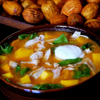 Turkey-Butternut Tortilla Soup with Zesty Lime Sour Cream
