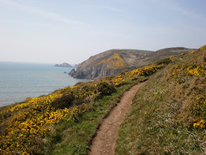 Photo: From Broad Haven to Solva (bkgrd: Dinas Fach)