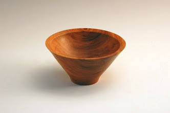 "Photo: Gary Guenther - Bowl from cored section @ May S&T - 4 1/2"" x 3 1/2"" - Cherry"