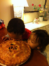 Photo: When we got home my kids wanted to dig right into the pie a friend had made us
