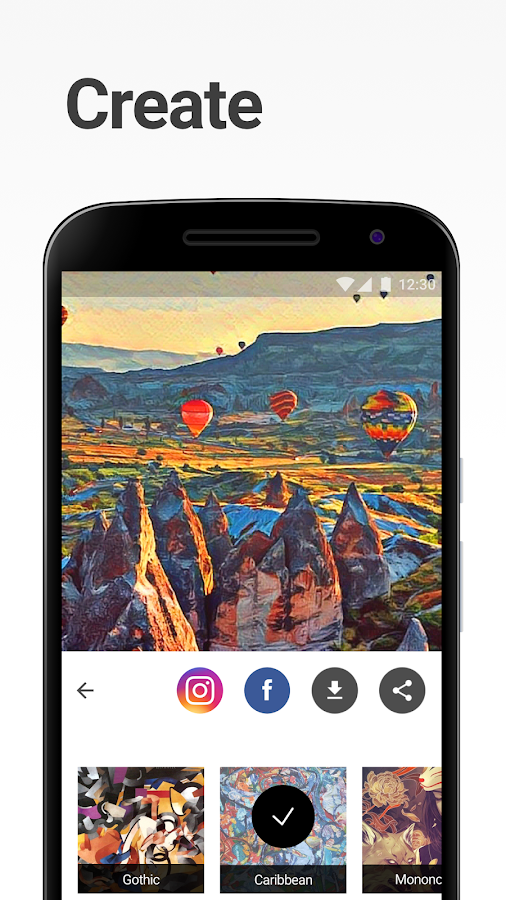 Screenshots of Prisma for iPhone