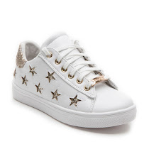 Step2wo Stars - Glitter Trainer LACE UP