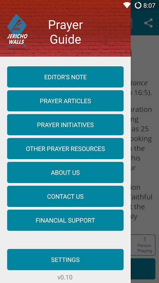 Jericho Walls Prayer App- screenshot