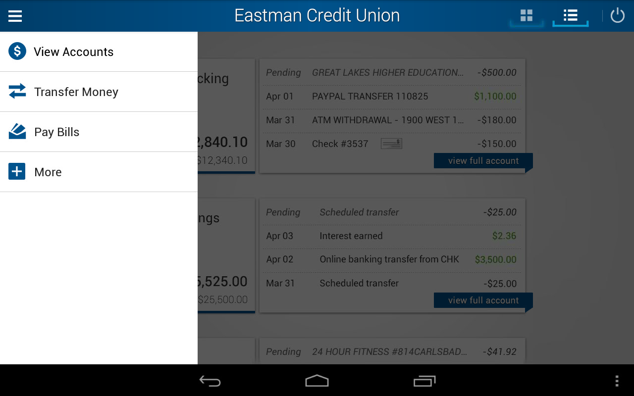 Eastman Credit Union Mobile- screenshot