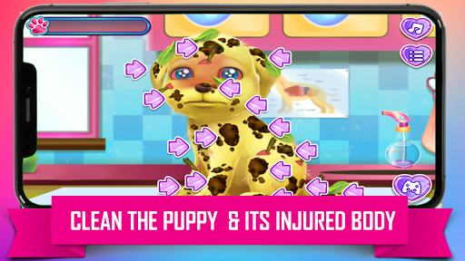 Princess Puppy Care : Pet Caring & Dress Up android2mod screenshots 5