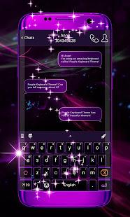 Purple Keyboard Theme 1