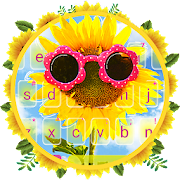 Sunglass Sunflower Keyboard Theme