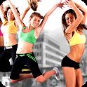 Aerobic fitness workout icon
