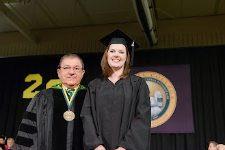 Photo: Bryana Lauren Bair, who receives her master's degree in the Reading Specialist program, is the 2013 winner of the Joan Develin Coley Award for Excellence in Education.