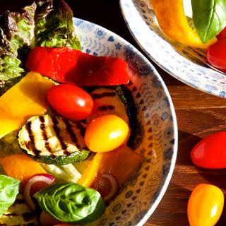 Grilled Vegetable Salad - Seasonal Vegetables in September!