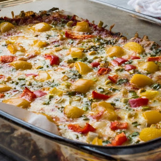 Stuffed Bell Pepper Bake.