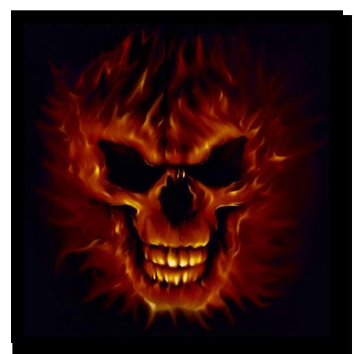 3D头骨着火现场壁纸 漫畫 LOGO-玩APPs